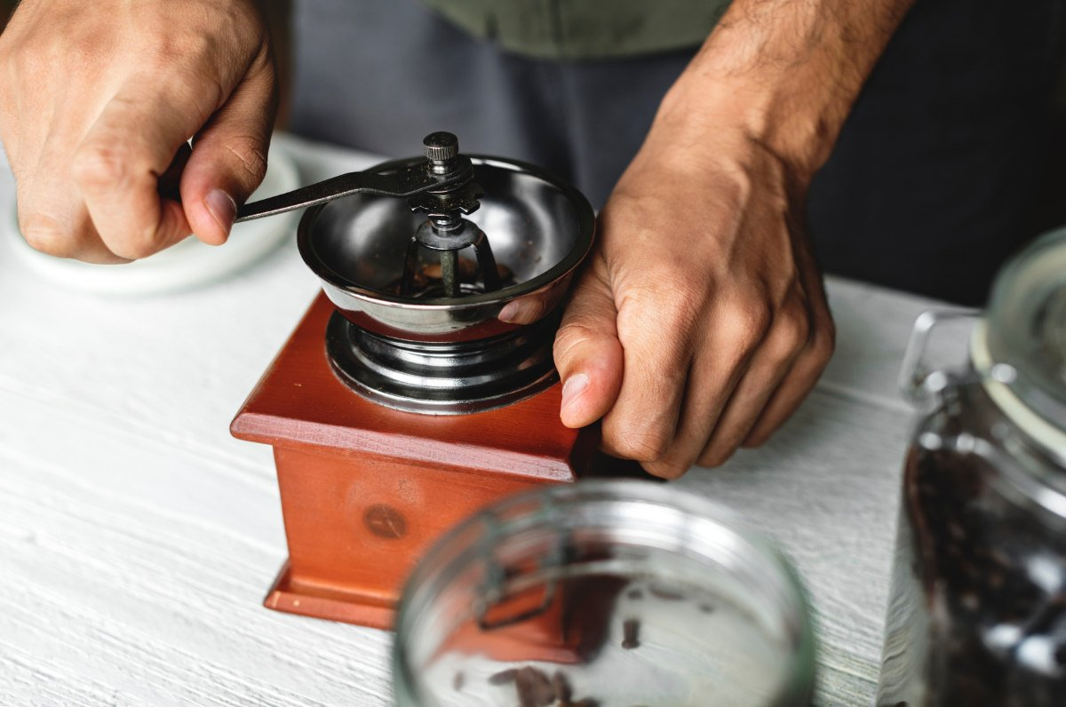 old fashioned coffee mill